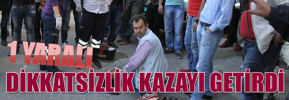 Akhisar'da Motosiklet Kazası; 1 Yaralı