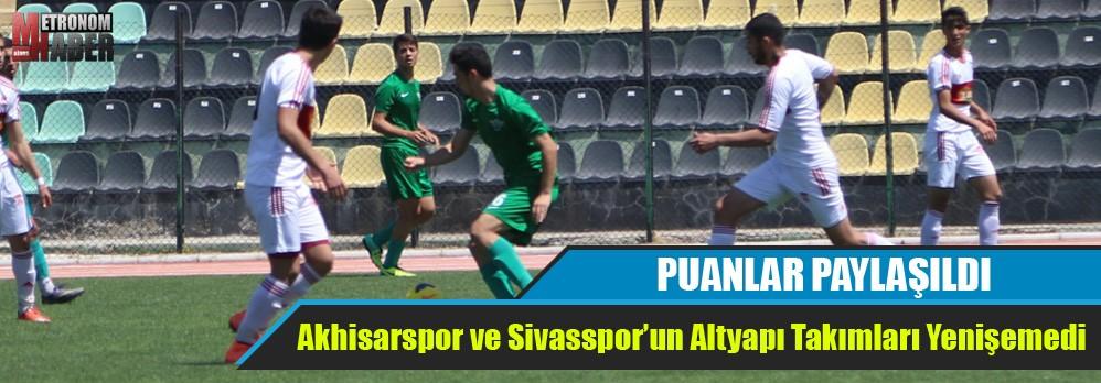 Akhisarspor ve Sivasspor'un Altyapı Takımları Puanları Paylaştı