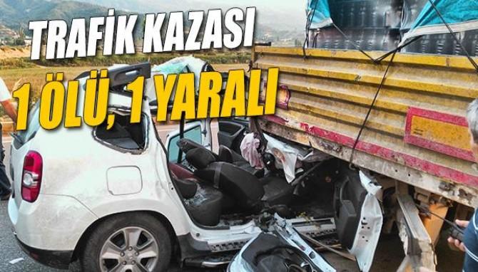 Salihli'de Trafik Kazası: 1 Ölü, 1 Yaralı