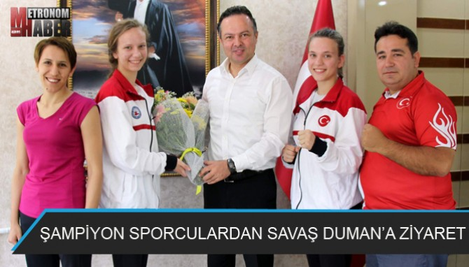 Şampiyon Sporculardan Savaş Duman'a Ziyaret