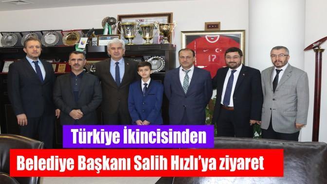 Türkiye İkincisinden Belediye Başkanı Salih Hızlı'ya ziyaret